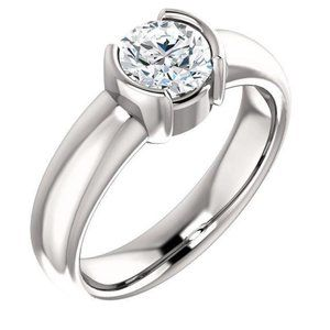 Jewelry - 1.51 ct. Sparkling round diamond half bezel